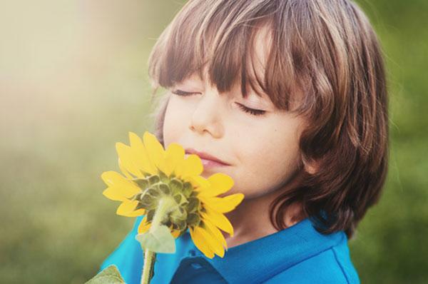 بو کردن گل